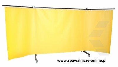PARAWAN SPAWALNICZY REGULAR Z KURTYNAMI ZBROJONYMI 3600x1900 mm (szer x wys) Z RAMIONAMI 800 mm