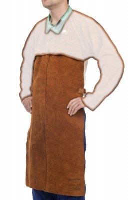 WELDAS-Lava Brown™ skórzany fartuch spawalniczy z dwoiny bydlęcej dopinany do bolerka 44-7836