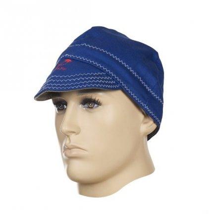 WELDAS-Fire Fox™ czapka spawalnicza, niebieska trudnopana bawełna (61 cm)