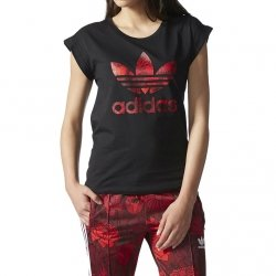 ADIDAS ORIGINALS T-SHIRT DAMSKI TREFOIL BF ROLL UP TEE AY7956