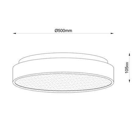 Lampa sufitowa / Plafon GRIDO 17013L Zuma Line