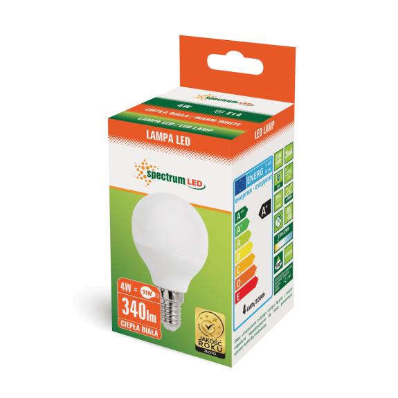 Żarówka LED e14 4W 3000K Spectrum
