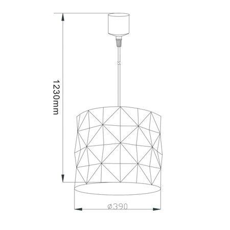 LAMPA WEWNĘTRZNA (WISZĄCA) ZUMA LINE ARAN PENDANT TL-1283P-C Zuma Line