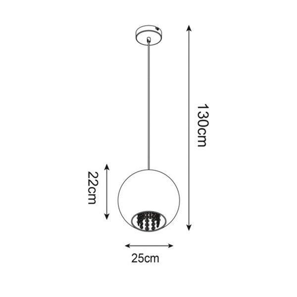 LAMPA WEWNĘTRZNA (WISZĄCA) ZUMA LINE IVIA PENDANT P12082D-D25 Zuma Line