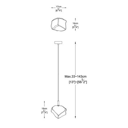 LAMPA WEWNĘTRZNA (WISZĄCA) ZUMA LINE ROCK PENDANT P0488-01F-F4FZ Zuma Line --- DODAJ PRODUKT DO KOSZYKA I UZYSKAJ MEGA RABAT ----