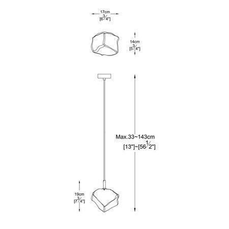 LAMPA WEWNĘTRZNA (WISZĄCA) ZUMA LINE ROCK PENDANT P0488-01F-F4HF Zuma Line