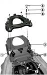 KAPPA stelaż kufra centralnego Kawasaki ZZR 1400 (12-15)