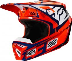 FOX V-3 KASK IDOL ORANGE/BLUE