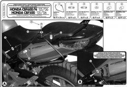 KAPPA stelaż pod sakwy boczne Kawasaki