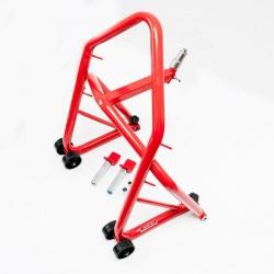 Podnośnik / stojak motocyklowy 2w1 przód -  pod główkę ramy oraz tył - pod wahacz (typ L)