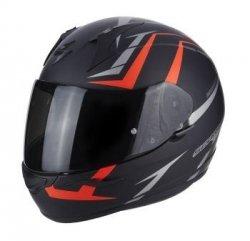 SCORPION KASK MOTOCYKLOWY  EXO-390 HAWK MATT BLACK-RED