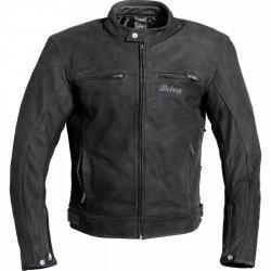 POLO Suede motocyklowa kurtka skórzana czarna
