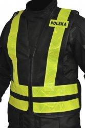 KAMIZELKA ODBLASKOWA OZONE POLSKA BLACK/FLUO YELLOW
