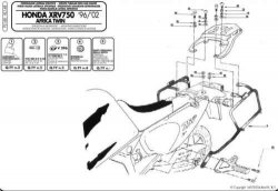 KAPPA KL148 stelaż kufrów bocznych Honda XRV 750 Africa Twin (96-02)