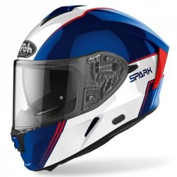 KASK AIROH SPARK FLOW BLUE/RED GLOSS XS