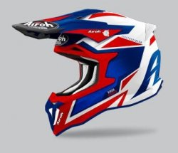 KASK AIROH STRYCKER AXE BLUE/RED GLOSS S