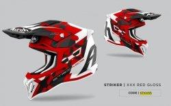 KASK AIROH STRYCKER XXX RED GLOSS XL
