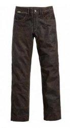 POLO Spirit Motors Buffalo spodnie motocyklowe jeansy skórzane brązowe