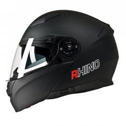 RHINO Highway kask motocyklowy szczękowy z blendą czarny mat