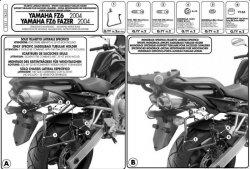 KAPPA stelaż pod sakwy boczne Yamaha FZ 6- FZ 600 Fazer (04-08)