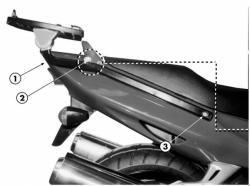KAPPA K2480 stelaż kufra centralnego Honda CBR 1100 XX (97-08)