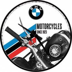BMW Zegar ścienny na ścianę okrągły biało-czarny