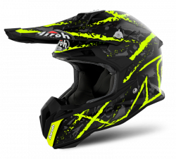 KASK AIROH TERMINATOR OPEN VISION CARNAGE YELLOW GLOSS