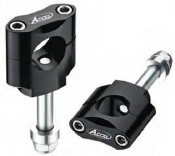 Accel mocowanie kierownicy 28,6mm wysokość 34,7mm ze śrubą M12 - czarny