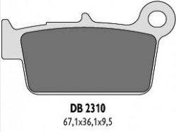 Delta Braking KAWASAKI 450 KXF(06-13) klocki hamulcowe tył
