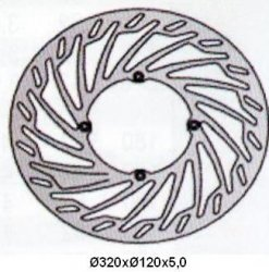 Tarcza hamulcowa przednia Husqvarna TE 410 E (99-01)