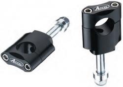 Accel mocowanie kierownicy 28,6mm wysokość 45mm ze śrubą - czarny