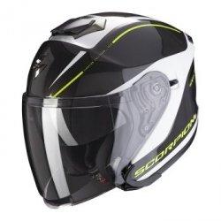Scorpion kask motocyklowy  EXO-S1 SHADOW PEARL WH-NEON YEL