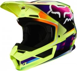 FOX V-1 KASK GAMA YELLOW XS