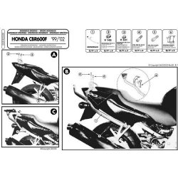 KAPPA stelaż pod sakwy boczne Honda CB600 (11), CBR600F (11)