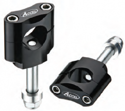 Accel mocowanie kierownicy 22,2mm wysokość 34,7mm ze śrubą M12 - czarny