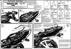 KAPPA  stelaż kufra centralnego Yamaha FZS 600 Fazer (98-03)