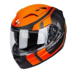Scorpion Exo-1200 AIR STREAM TOUR kask motocyklowy czarny-pomarańczowy fluo mat r. XL
