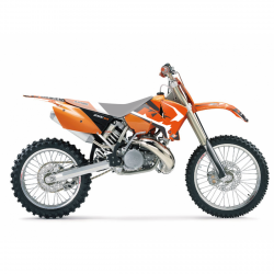 Blackbird Dream 4 KTM EXC (03-04) Okleina naklejki komplet naklejek