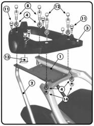 KAPPA stelaż kufra centralnego BMW F650 CS SCARVER