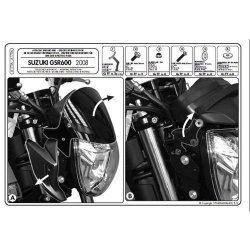 KAPPA mocowanie szyby Suzuki GSR 600