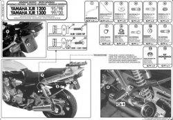 KAPPA K3410 stelaż kufra centralnego Yamaha XJR 1200 (95-98)