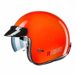 RHINO Jet City kask motocyklowy otwarty orange fluo