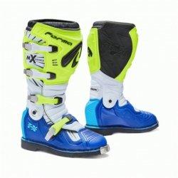 Forma Terrain TX buty motocross (zawias) niebiesko-białe-fluo