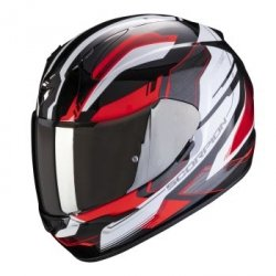SCORPION KASK MOTOCYKLOWY  EXO-390 BOOST Black White Red