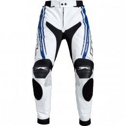 FLM PACE spodnie skórzane biało-niebieskie