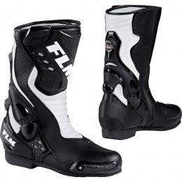FLM GP buty motocyklowe czarno-białe