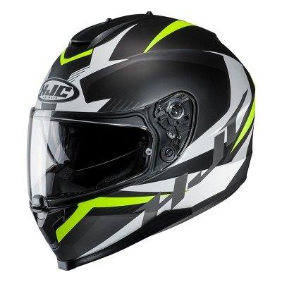HJC C70 KASK MOTOCYKLOWY TROKY BLACK/FLO GREEN