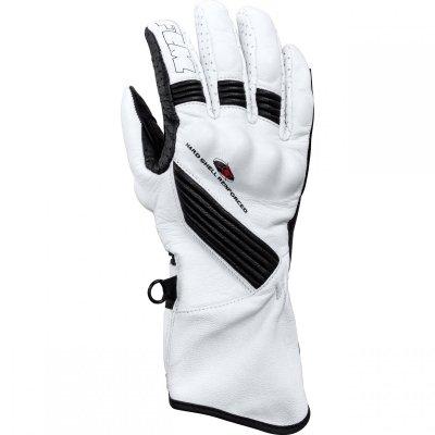 FLM TECH rękawice motocyklowe Damskie białe