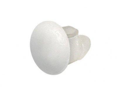 LAMPA Zestaw 100 sztuk zaślepek do ramki tablicy rejestracyjnej, białe.