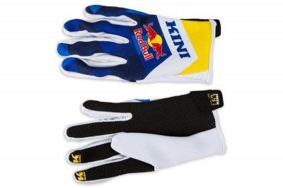 Kini Red Bull Vintage rękawice cross enduro żółto-niebieskie